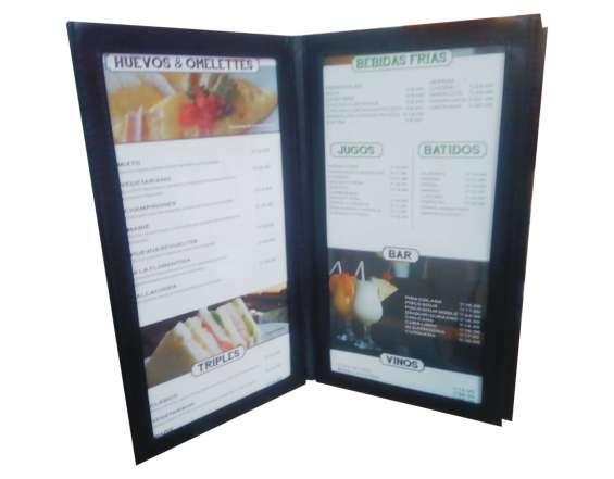 Cartas de menu para restaurantes y afines