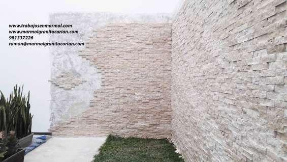 Fachaletas de marmol rustico