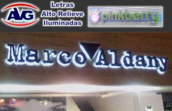Letreros luminosos catalogo avg lima perú , logos, letras corpóreas iluminadas y letreros