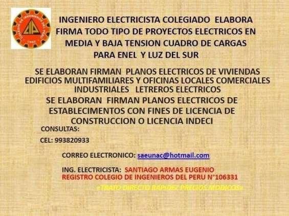 Ingeniero electricista colegiado