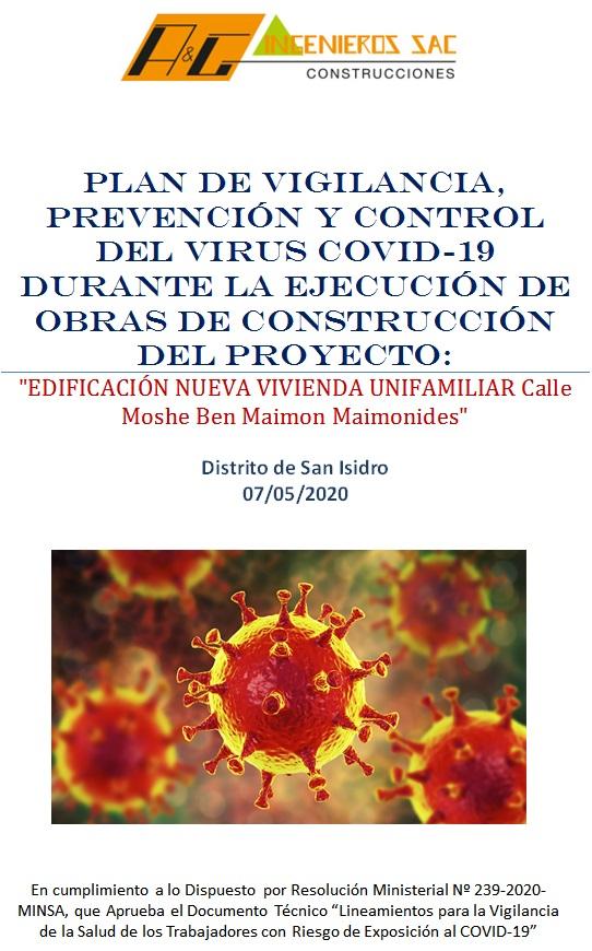 Elaboro plan para la vigilancia, prevencion y control del covid-19