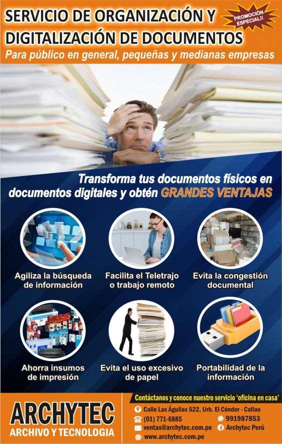 Organización y digitalización de documentos