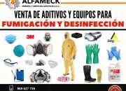 Venta de aditivos y equipos  para fumigación y desinfección