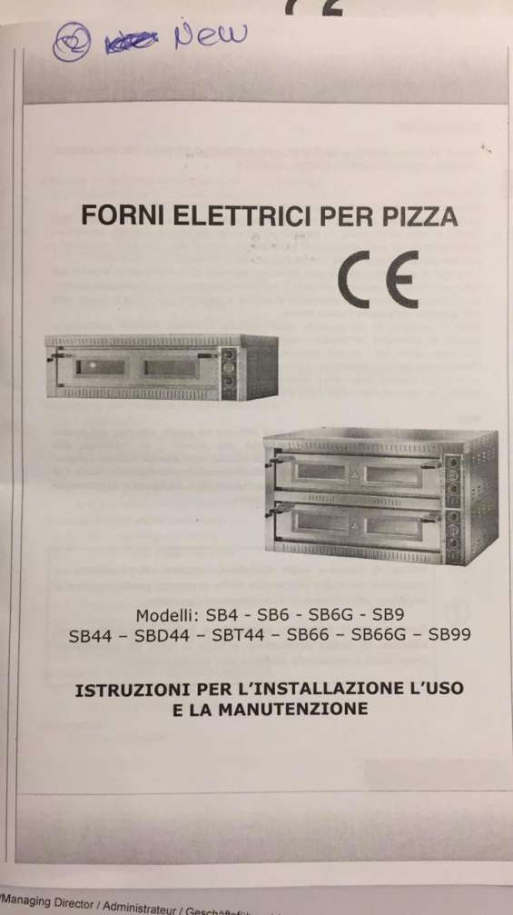 Horno para pizza piedra refractaria italiano nuevo