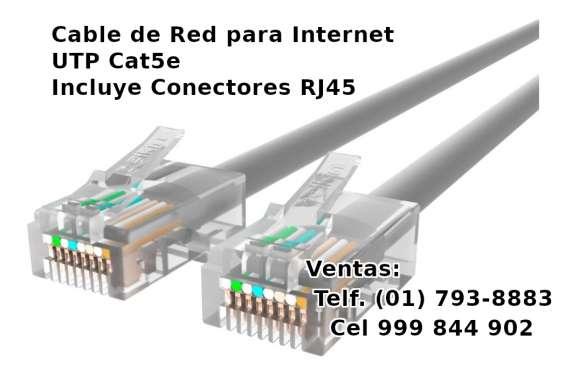 Cable de red utp cat5e venta lima norte delivery yape bcp scotiabank