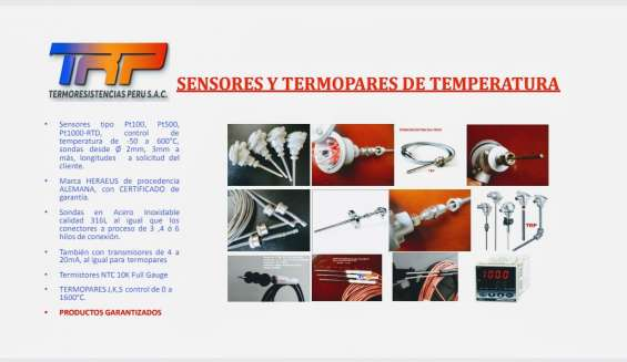 Sensores de temperatura pt100-rtd