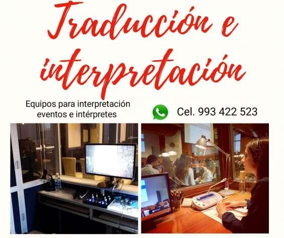 Traductores, equipos de traducción fijos y portátiles peú cel. 993 422 523