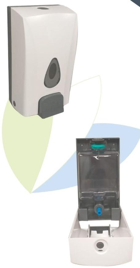 Dispensador con visor para alcohol gel