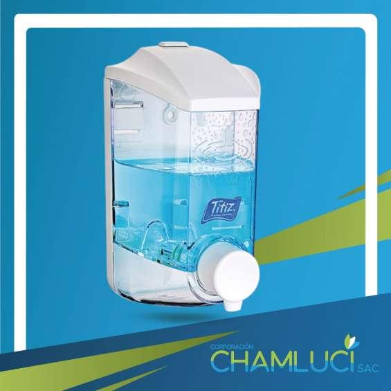 Dispensador de plástico para alcohol gel y jabón