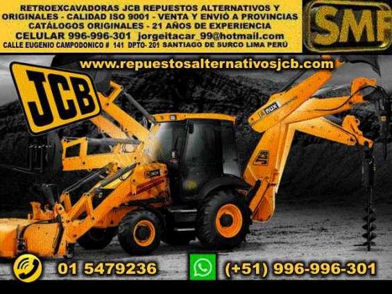 Jcb repuestos jcb alternativos originales lima perú maquinaria pesada jcb excavadoras jcb