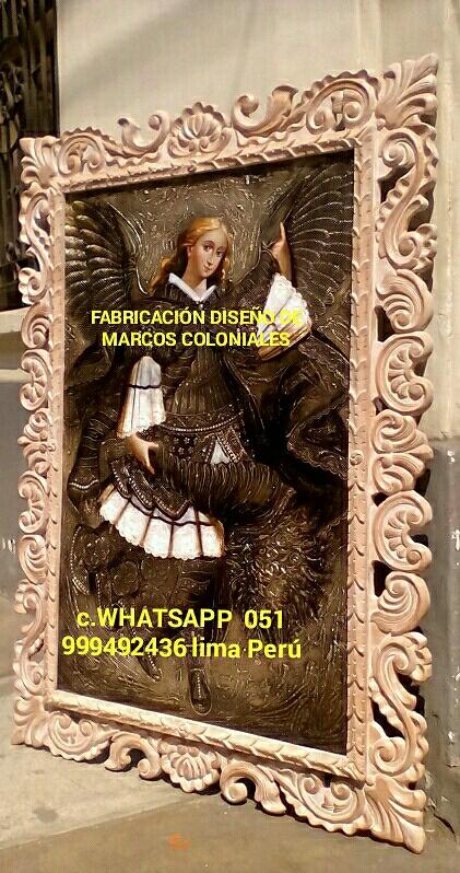 Marcos estilo colonial tallado fabrico a pedido lima perú