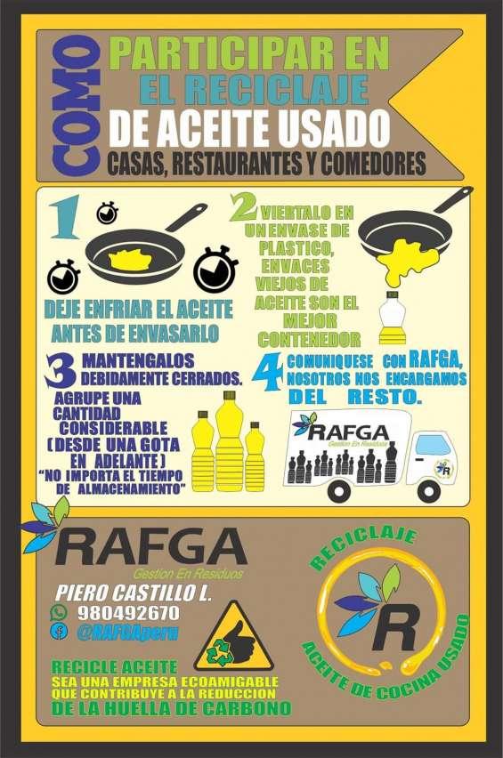 Servicio de recoleccion de aceites de fritura!!