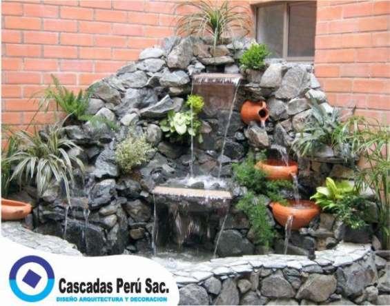 Cascadas de piedras artificiales,