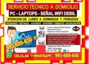 Tecnico wifi pcs laptops repetidores cableados