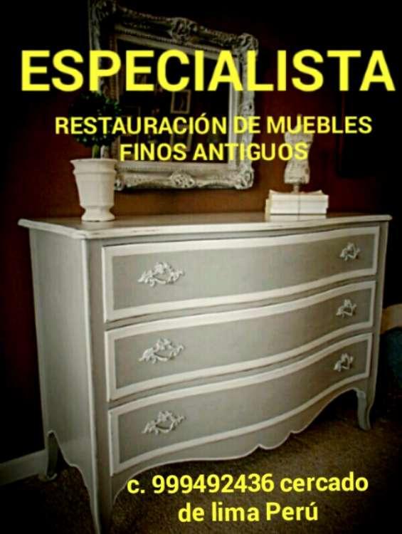 Reparacion y restauraciónes muebles y antigüedades exclusivos