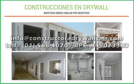 Expertos en departamentos en sistema drywall