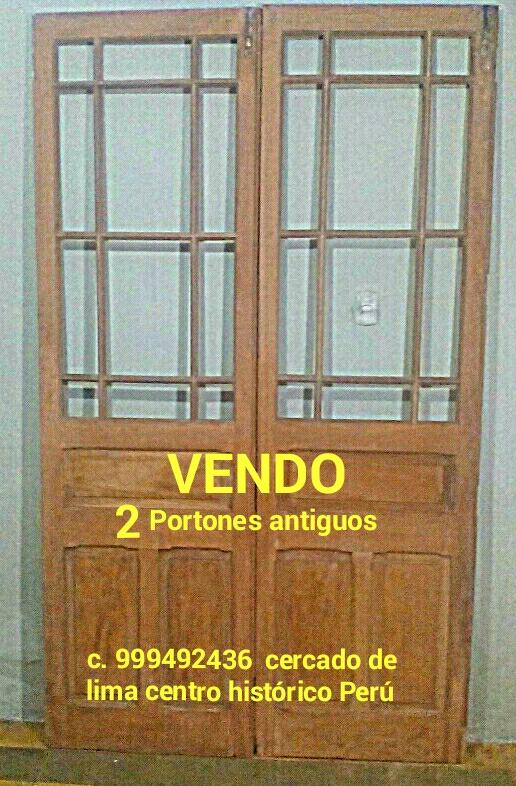 Puertas antiguas vendo hechas en cedro. lima peru