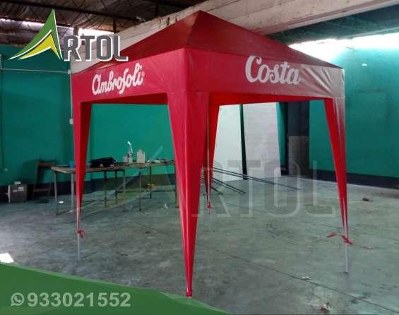 Toldo color rojo modelo pirámide - artol perú