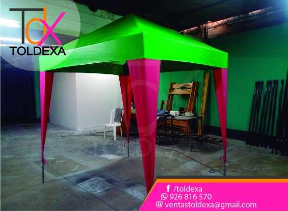 Fotos de Toldo variedad de color modelo pirámide toldexa 1