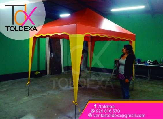 Fotos de Toldo variedad de color modelo pirámide toldexa 2