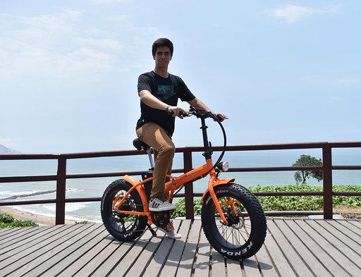 Bicicleta eléctrica plegable modelo klapp full aluminio 250w brushless