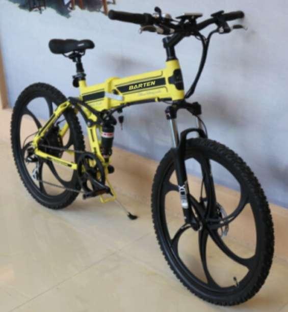 Bicicleta eléctrica plegable modelo rock full aluminio motor 250w brushless, plegable!