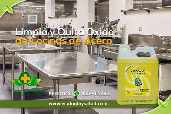 Limpiador ecológico de cocinas de acero