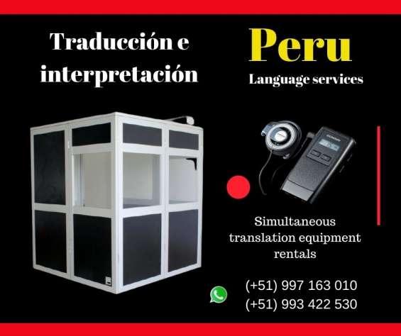 Simultaneous interpretation in lima peru /traducción simultánea en lima