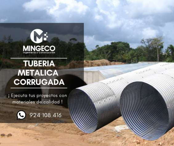 Tuberia metalica corrugada de alcantarillado - 924108416