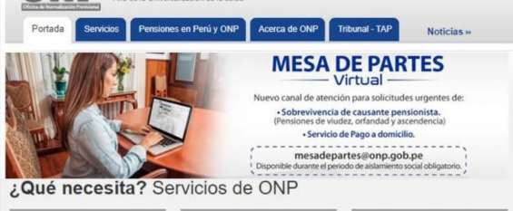 Trámite onp virtual