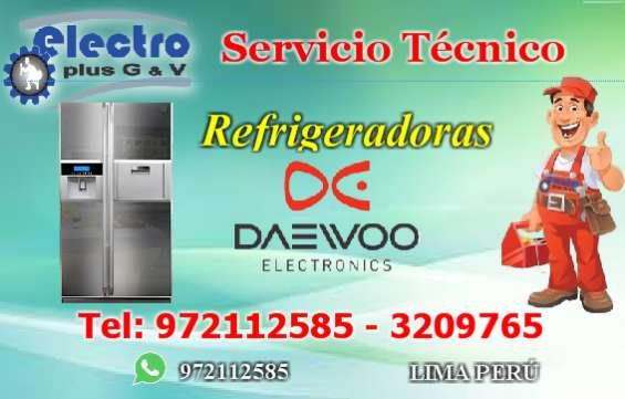 Servicio todos los días, servicio técnico de refrigeradoras daewoo, 972112585
