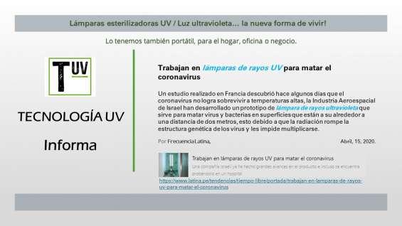 Luz ultravioleta tipo c, la industria aeroespacial lo usa contra el covid para desinfección.