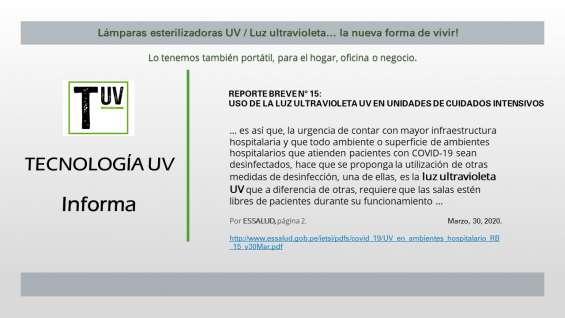 Luz ultravioleta tipo c, essalud propone su uso contra el covid para desinfección.