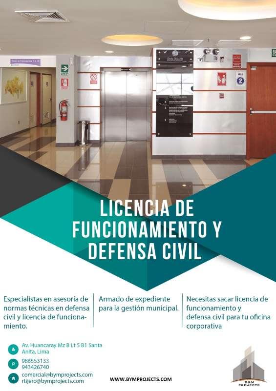 Asesoría y gestión municipal - licencia de funcionamiento - certificado de defensa civil