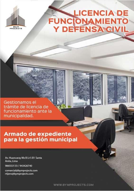 Asesoría - tramitación - certificado de defensa civil - licencia de funcionamiento