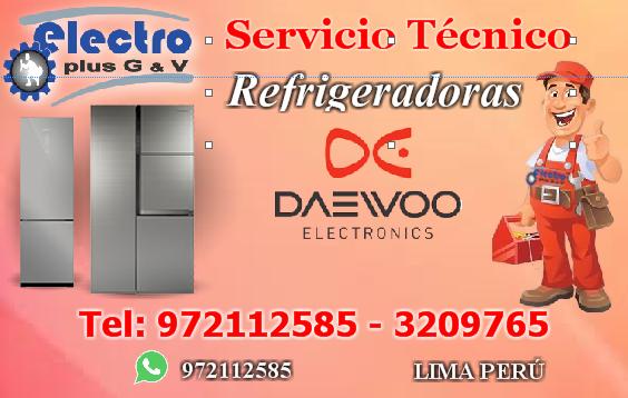 Servicio original, servicio técnico de refrigeradoras daewoo, 972112585