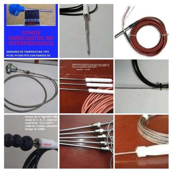 Sensores de temperatura pt100-rtd, somos fabricantes
