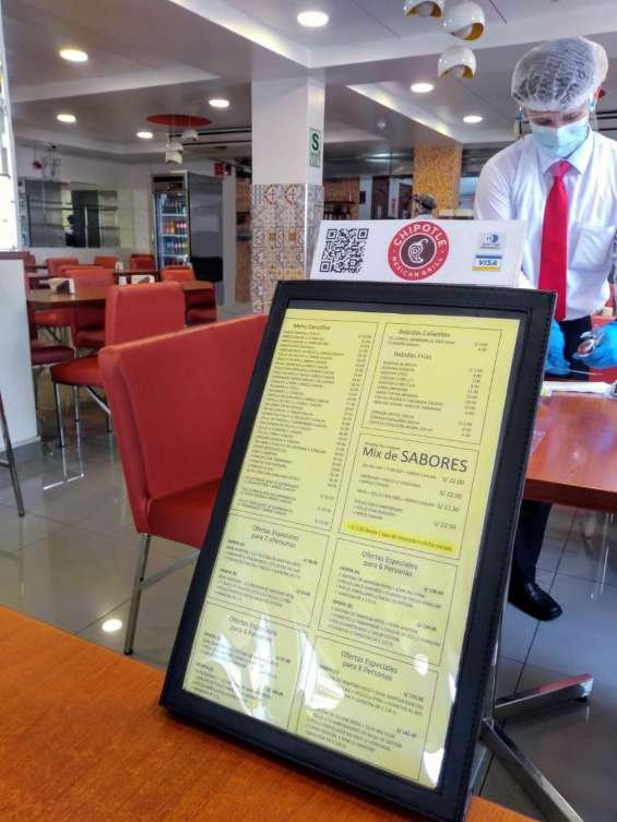 Vertical de facil lectura al borde de la mesa 60 platos