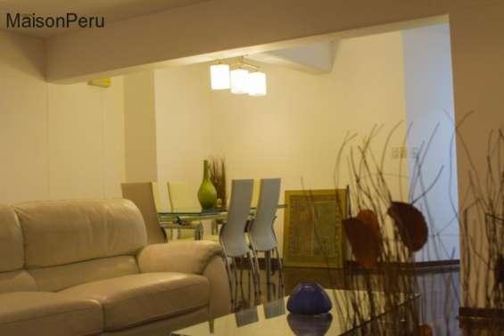 Alquilo departamento 140 m2 v. mar miraflores (ref: 989)-u-t