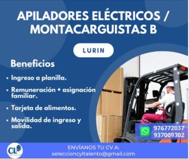 Apilador electrico de clase dos/ montacargas-lurin