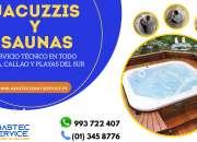Jacuzzis y saunas; servicio técnico a domicilio