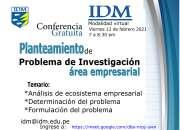 Conferencia gratuita Problema de investigación